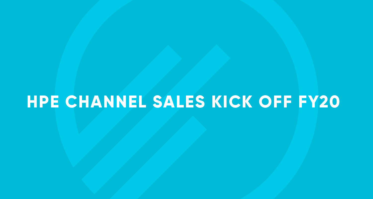 HPE Channel Sales Kick off FY20 - MPE